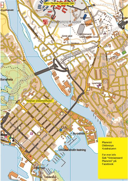 uia kristiansand kart Kart Over Kvadraturen Kristiansand | Kart